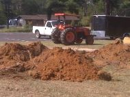 Ground clearing before construction begins